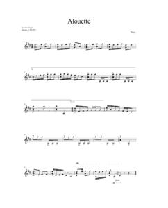Alouette - arr. Ante Cagalj